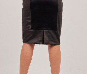 Faux Leather panel skirt