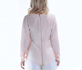 'Petal' Zipper Blouse