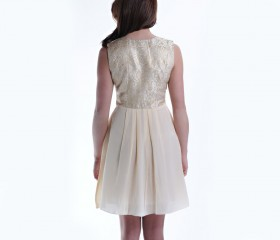 Cream Gilded Summer Dress