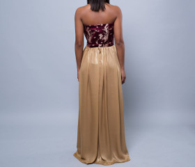 Nicola dress in rose and gold