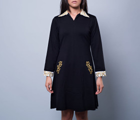 Pippa Embroidered Collar Dress