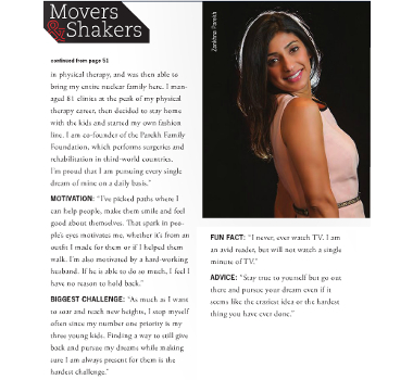 Cary Magazine Movers and Shakers 2015