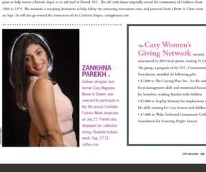 We are featured in Cary Magazine